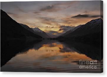 Sunset Over Loch Doine Canvas Print