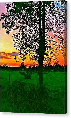 Canvas Print featuring the photograph Sunset Over M-33 by Daniel Thompson