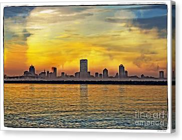Sunset Over Milwaukee Canvas Print