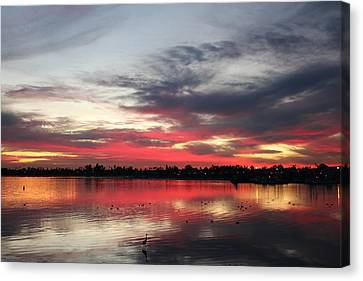 Sunset Over Mission Bay  Canvas Print