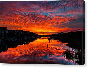 Sunset Over Morgan Creek - Wild Dunes Resort Canvas Print