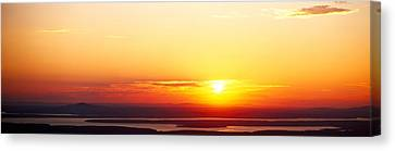 Sunset Over Mountain Range, Cadillac Canvas Print by Panoramic Images