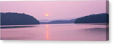 Western North Carolina Canvas Print - Sunset Over Mountains, Lake Chatuge by Panoramic Images