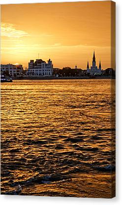 Sunset Over New Orleans Canvas Print by Patricia Sanders