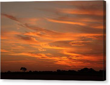 Sunset Over North Norfolk Canvas Print by Paul Lilley