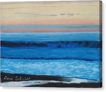 Sunset Over Pacfic Ocean Surf Canvas Print