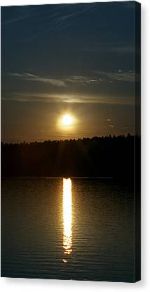 Canvas Print featuring the photograph Sunset Over Pickerel River Sun 91 by G L Sarti