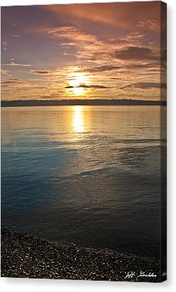 Sunset Over Puget Sound Canvas Print