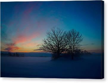 Sunset Over Sattuna Canvas Print by Jonas Lind