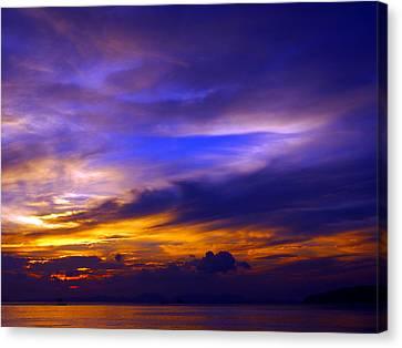 Sunset Over Sea Canvas Print by Kaleidoscopik Photography