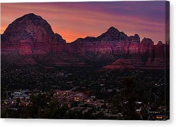 Sunset Over Sedona Az Canvas Print by Tim Bryan