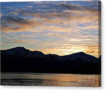 Sunset Over Skagway Ak Canvas Print by Gena Weiser