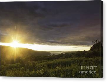 Sunset Over Skaneateles Canvas Print