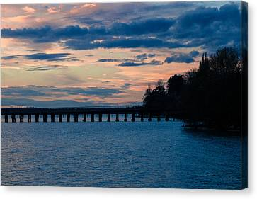 Sunset Over Squalicum Bay Canvas Print