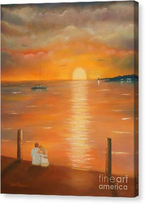 Sunset Over The Bay Canvas Print by Chris Fraser