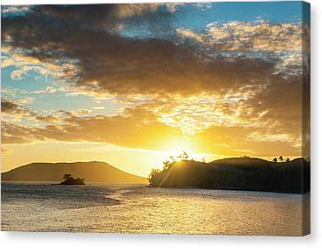 Sunset Over The Beach Of Safe Landing Canvas Print by Michael Runkel