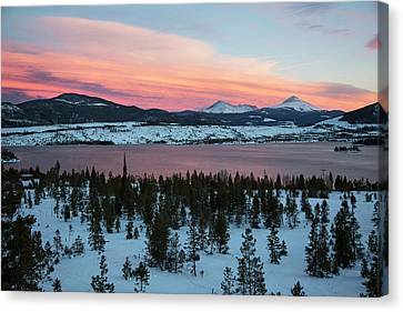 Sunset Over The Dillon Reservoir Canvas Print by Jim West