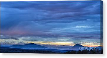 Sunset Over The European Alps Canvas Print by Bernd Laeschke