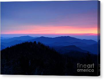 Sunset Over The Great Smoky Mountains Canvas Print by Glenn Morimoto