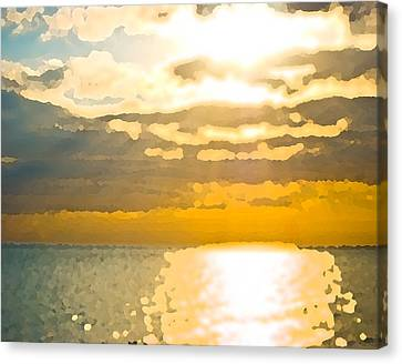 Sunset Over The Gulf Sun 92 Canvas Print
