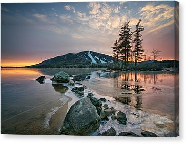 Sunset Over The Mountain Canvas Print by Darylann Leonard Photography