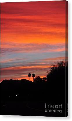 Sunset Over The Mountains Canvas Print