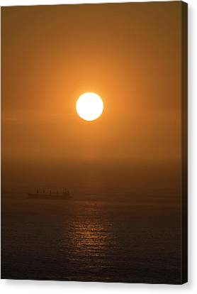 Sunset Over The Ocean, Cape Town Canvas Print by Panoramic Images