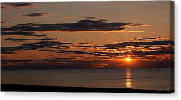 Sunset Over The Ocean, Jetties Beach Canvas Print by Panoramic Images