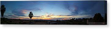 Sunset Over The Pacific Ocean, Todos Canvas Print by Panoramic Images