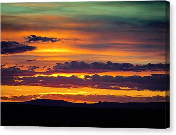 Petrified Forest Arizona Canvas Print - Sunset Over The Painted Desert by Jerry Ginsberg
