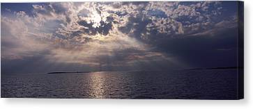 Sunset Over The Sea, Gulf Of Mexico Canvas Print by Panoramic Images