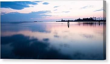 Sunset Over The Sea In Burano Canvas Print by Susan Schmitz