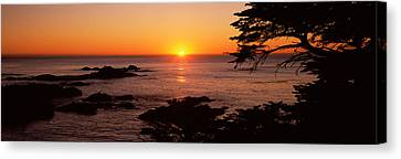Sunset Over The Sea, Point Lobos State Canvas Print by Panoramic Images