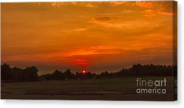 Sunset Over The Sport Complex Canvas Print by Robert Bales