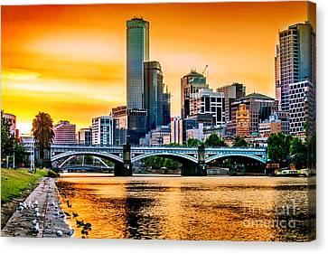 Sunset Over The Yarra Canvas Print