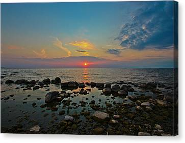 Sunset Over Three Mile Bay Canvas Print by Laurel Butkins
