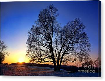Sunset Over Valley Forge Canvas Print