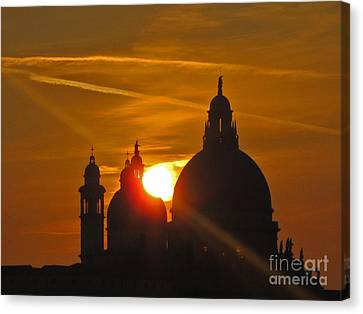 Sunset Over Venice Canvas Print