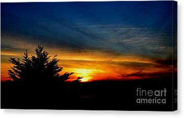Sunset Overlooking Pacifica Ca  Canvas Print by Jim Fitzpatrick