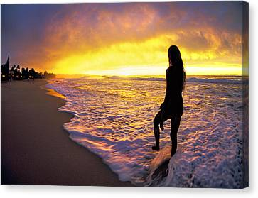 Spectacular Canvas Print - Sunset Overspill by Sean Davey
