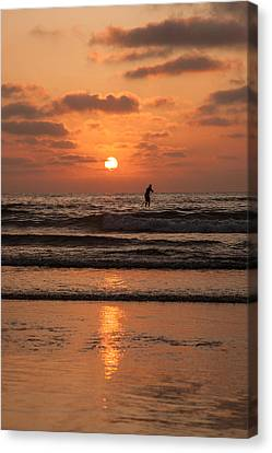 Sunset Paddle Canvas Print by Sonny Marcyan