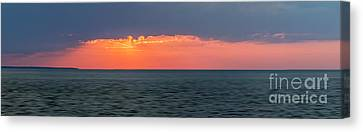 Sunset Panorama Over Ocean Canvas Print by Elena Elisseeva