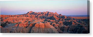 Sunset Panoramic View Of Mountains Canvas Print by Panoramic Images