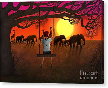Sunset Parade Canvas Print by Rosa Cobos