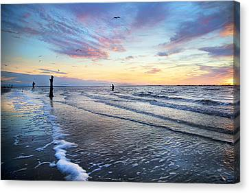 Sunset Paradise Jekyll Island  Canvas Print by Betsy Knapp