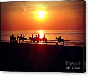 Sunset Past Time Canvas Print by Nina Ficur Feenan