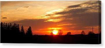 Sunset  Canvas Print by Paulina Szajek