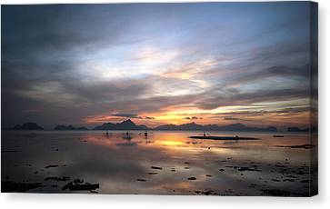 Sunset Philippines Canvas Print by John Swartz