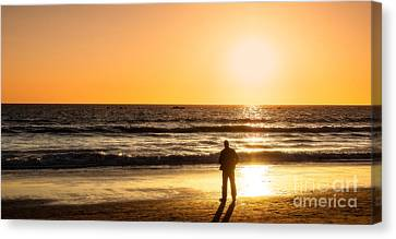 Sunset Pondering Canvas Print