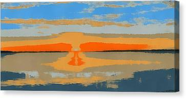 Sunset Pop Art Canvas Print by Dan Sproul